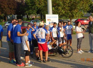 Σκακιστικοί σύλλογοι Τριανδρίας με τους Wheeling2Help στη παραλία της Θεσσαλονίκης